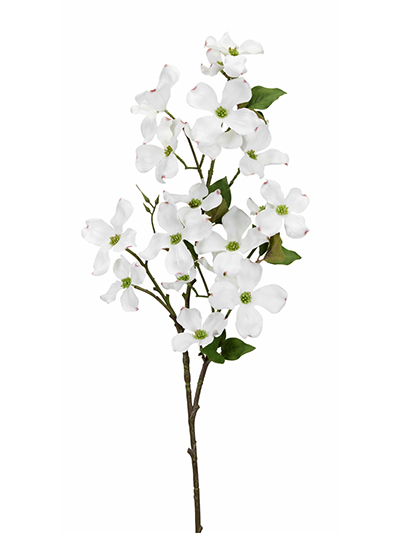 Aldik Home's Realistic Silk Flowers - Dogwood Branch