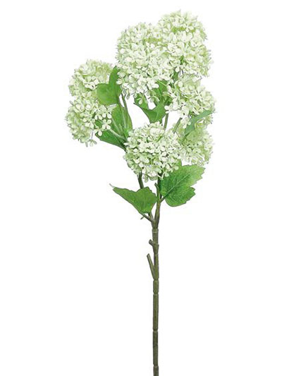 Aldik Home's Realistic Silk Flowers - Snowball Spray