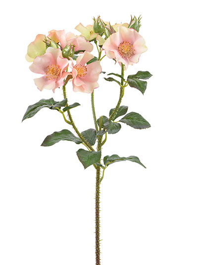 Aldik Home's Realistic Silk Flowers - Trailing Rose Spray