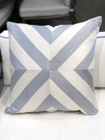 Aldik Home's Luxurious Outdoor Throw Pillows - Halo Chambray