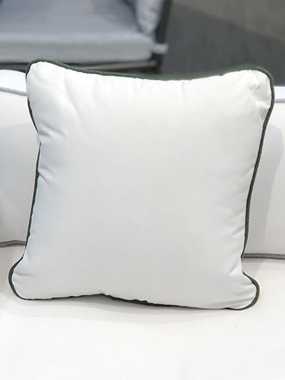 Aldik Home's Luxurious Outdoor Throw Pillows - Natural White w/ Welt