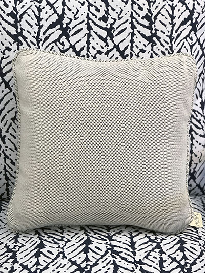 Aldik Home's Luxurious Outdoor Throw Pillows - Brighton Solid Snow w/ Self Welt