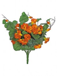 Aldik Home's Beautiful Silk Flower Bushes - Nasturtium Bush