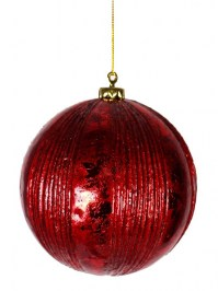 Aldik Home's Festive Christmas Ornament - Ribbed Ball