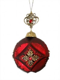 Aldik Home's Eclectic Christmas Ornaments - Ball Medallion
