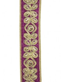 Aldik Home's Luxurious Ribbon - Embroidered Velvet