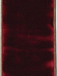 Aldik Home's Luxurious Ribbon - Ruby Velvet