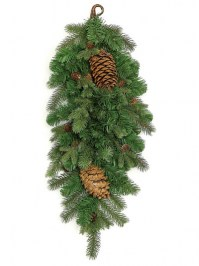 Aldik Home's Wonderful Wreaths & Garlands - Teardrop Mixed Spruce