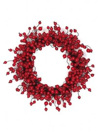 Aldik Home's Festive Christmas Decor - Cranberry Wreath