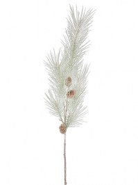 Aldik Home's Festive Christmas Stems - Frosted Long Needle Pine