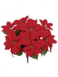 Aldik Home's Festive Christmas Stems - Poinsettia Bush