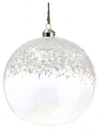 Aldik Home's Eclectic Christmas Ornaments - Snowed Glass Ball