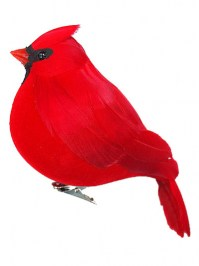 Aldik Home's Festive Christmas Ornaments - Fat Cardinal
