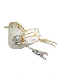 Aldik Home's Festive Christmas Ornament - Bird w/ Clip