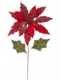 Aldik Home's Festive Christmas Stems - Beaded Poinsettia