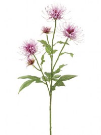 Aldik Home's Realistic Silk Flowers - Bee Balm Stem