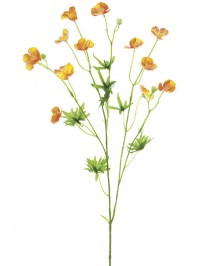 Aldik Home's Realistic Silk Flowers - Buttercup