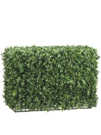 Aldik Home's Incredibly Realistic Silk Plants - Boxwood Hedge Mixed Medium