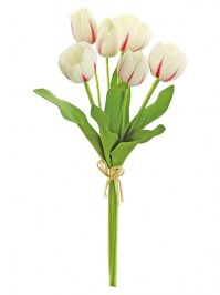 Aldik Home's Realistic Silk Flowers - Tulip Bundle