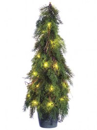 Aldik Home's Festive Christmas Decor - Cedar Pine Topiary