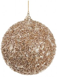 Aldik Home's Eclectic Christmas Ornaments - Glitter Ball