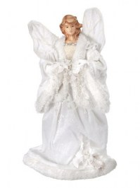 Aldik Home's Festive Christmas Decor - Angel w/ Crystal Garland