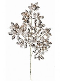 Aldik Home's Festive Christmas Stems - Glitter Mini Leaf