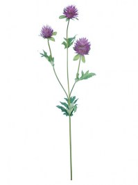 Aldik Home's Realistic Silk Flowers - Thistle