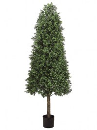 Aldik Home's Realistic Silk Plants - Boxwood Topiary Cone