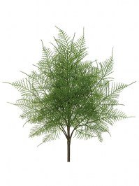 Aldik Home's Realistic Silk Plants - Lace Fern Bush