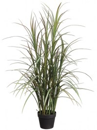 Aldik Home's Realistic Silk Plants - Potted Grass Plant