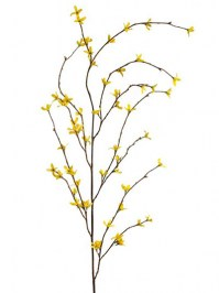 Aldik Home's Realistic Silk Flowers - Forsythia Branch