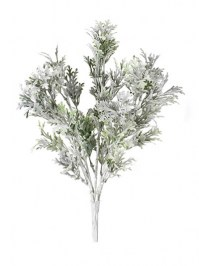 Aldik Home's Realistic Silk Plants - Dusty Miller Bush
