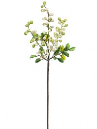 Aldik Home's Realistic Silk Flowers - Berry Stem