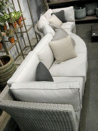 Aldik Home's Summer Classics Patio Furniture Floor Samples - Club Woven Sectional
