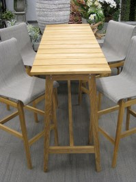 Aldik Home's Summer Classics Patio Furniture Floor Samples - Coast Bar Table Set