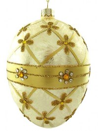 Aldik Home's Eclectic Christmas Ornaments - Egg Shaped Ornament