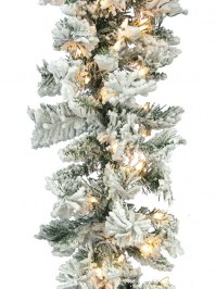 Aldik Home's Wonderful Wreaths & Garlands - Flocked Balsam