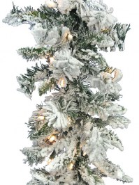 Aldik Home's Wonderful Wreaths & Garlands - Flocked Balsam Garland