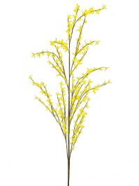 Aldik Home's Realistic Silk Flowers - Forsythia Stem