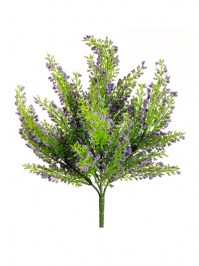 Aldik Home's Realistic Silk Flowers - Heather Bush Mini