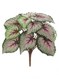 Aldik Home's Realistic Silk Plants - Begonia Bush