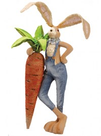 Aldik Home's Lovely Easter Decor - Bunny with Giant Carrot