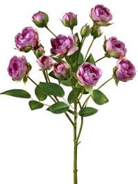 Aldik Home's Realistic Silk Flowers - Rose Stem