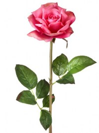 Aldik Home's Realistic Silk Flowers - Soft Touch Open Rose