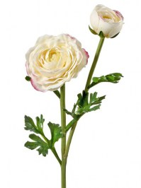 Aldik Home's Realistic Silk Flowers - Soft Touch Ranunculus