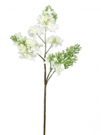 Aldik Home's Realistic Silk Flowers - Lilac Stem