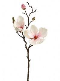 Aldik Home's Realistic Silk Flowers - Magnolia Spray