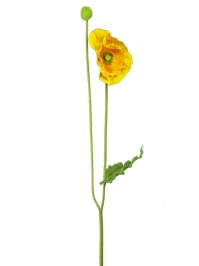 Aldik Home's Realistic Silk Flowers - Poppy Iceland Stem