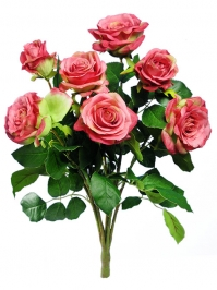 Aldik Home's Realistic Silk Flowers - Rose Bush